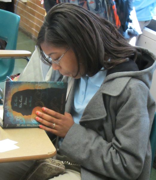 One of the eighth grade students becoming acquainted with magical realism...