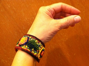 My new favorite bracelet, a gift from Cristina. From AlterNatives in RVA. Gracias Cristina!