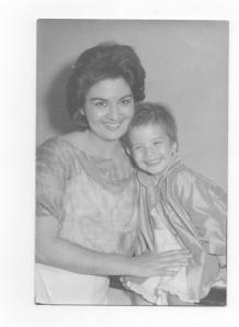 Elizabeth and her mother in 1961, weeks before they would leave Cuba