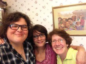 EE. Charlton Trujillo, me, and Kathy Erskine