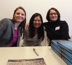 Sarah Guillory, Ellen Oh and me. NOVA Teen Book Fest