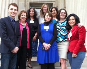 Dr. Jamie Naidoo, Teresa Mlawer, Margarita Engle, Adriana Dominguez, Lila Quintero Weaver (front), Laura Lacámara, me, and Irania Patterson