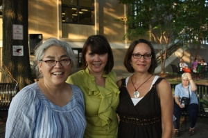 Patty Parks, librarian, Gigi and me at Girls of Summer 2012