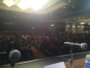 What the ballroom looked like for the panel on diversity (via Lamar Giles)