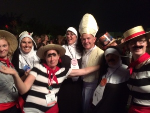 Yes. Those would be the Pope, nuns, and gondoliers.