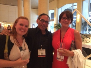 Illustrators Eliza Wheeler, David Diaz and me