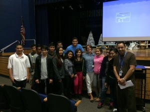 Some of the great students I met at Osbourn Park HS