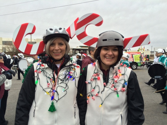 The Segway riders felt the need to be understated this year.