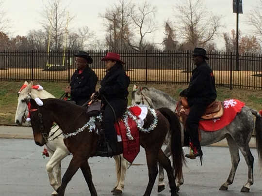 Yes,horses in Santa hats