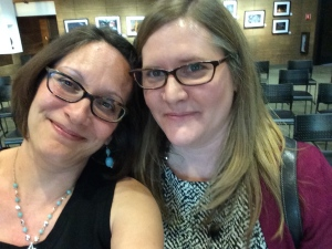 Selfie with librarian Jennifer Lawson.  Hey, same glasses!