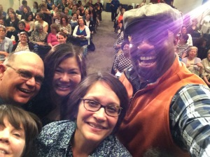 Gigi, Tim Tingle, Ellen Oh, Kwame Alexander and me at the Library of Congress