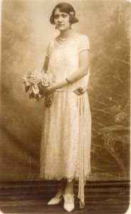 Bena on her wedding day in 1925