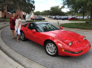 How's THIS for a set of wheels? My ride after the awards ceremony in Tampa. Thanks, Donna Heath!