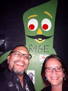 A random Gumby sighting with my friend, Greg Neri
