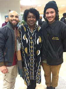 Dereck Rodriguez and Gabriel Ramirez with the fab Dr. Joanne Gabbin (photo by Tony Medina)