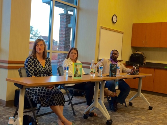 Great VA Book Fest panel on writing family with Lamar Giles (Endangered), Kelly Fiori (Thicker Than Water) Hannah Barnaby (Some of the Parts)