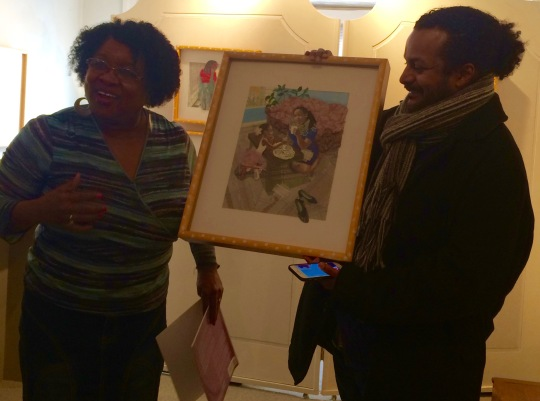 Dr. Gabbin and Tony Medina during the reading of Dr. Gabbin's picture book, Sugar Plum
