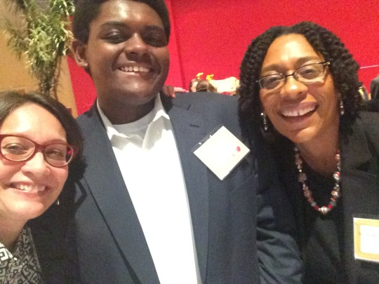 At the author dinner with Kendal Washington White, Ass't VP of Student Affairs and Dean of Students (and her son Robert)