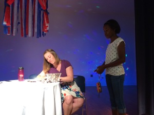 Hannah signing books at Girls of Summer 2015