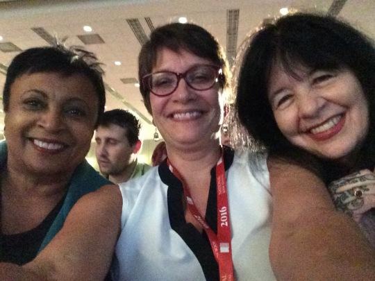 Dr. Carla Hayden, me, Joy Harjo